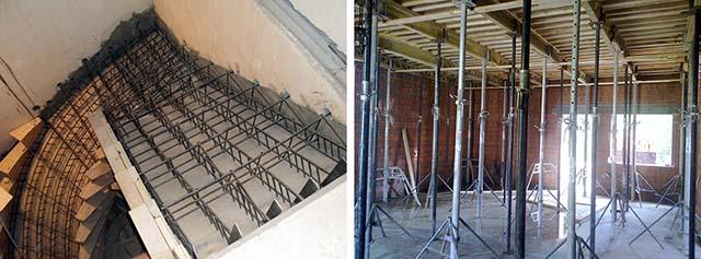 Устройство монолитных перекрытий и лестниц