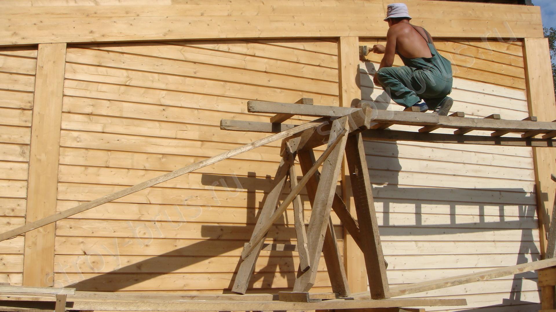 Пропитка деревянного дома антисептиком