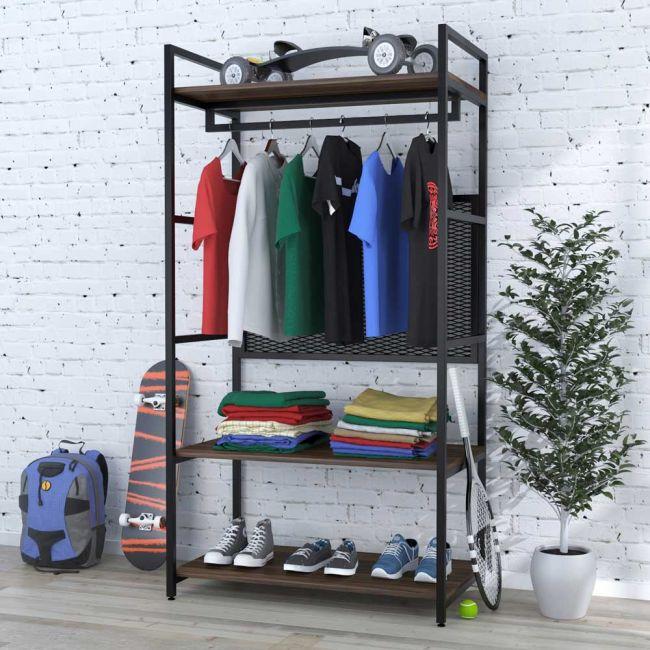 Стеллажи для одежды - удобный предмет вашего интерьера