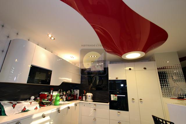 Двухуровневый и многоуровневый 3D натяжной потолок с подсветкой и фотопечатью в Одессе
