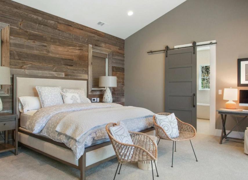 Интерьер спальни в скандинавском стиле 2021