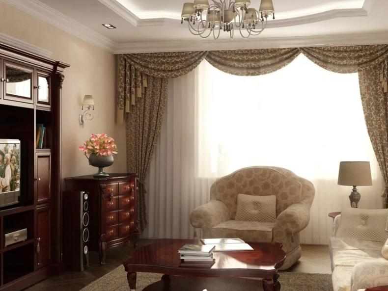 Интерьер маленькой гостиной