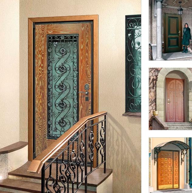 Виды и выбор входных дверей в дом